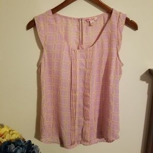 Candies Juniors size small blouse. Pink and yellow